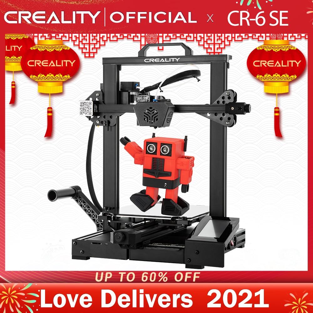 CREALITY 3D Printer New Super CR-6 SE Silent Mainboard Resume Printing Filament Free Gift