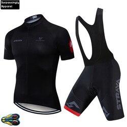 2020 equipe strava ciclismo equipe jérsei 20d bicicleta shorts conjunto ropa ciclismo dos homens verão secagem rápida pro maillot calças wear