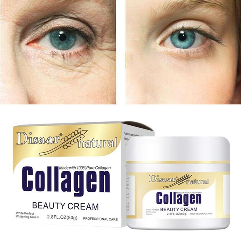 Купить с кэшбэком 80g Collagen Lifting Cream Face Hydrating Cream Skin Care Whitening Moisturizing Anti Wrinkle Korean Cream NEW