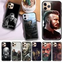 블랙 Tpu Capa For Apple iPhone 11 11Pro Max XS X XR 7 8 6 6S Plus 5 5S SE2020 케이지 커버 Cas Ragnar Lothbrok Vikings