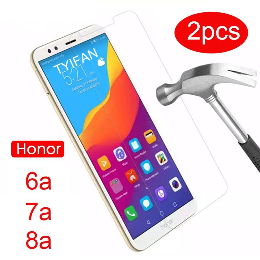 2pcs Gehärtetem Glas Fall auf Ehre 8a 7a Pro 6a Schutz Glas für Huawei Honer 8 7 6 EIN a8 A7 A6 Glas Screen Protector Telefon 9h
