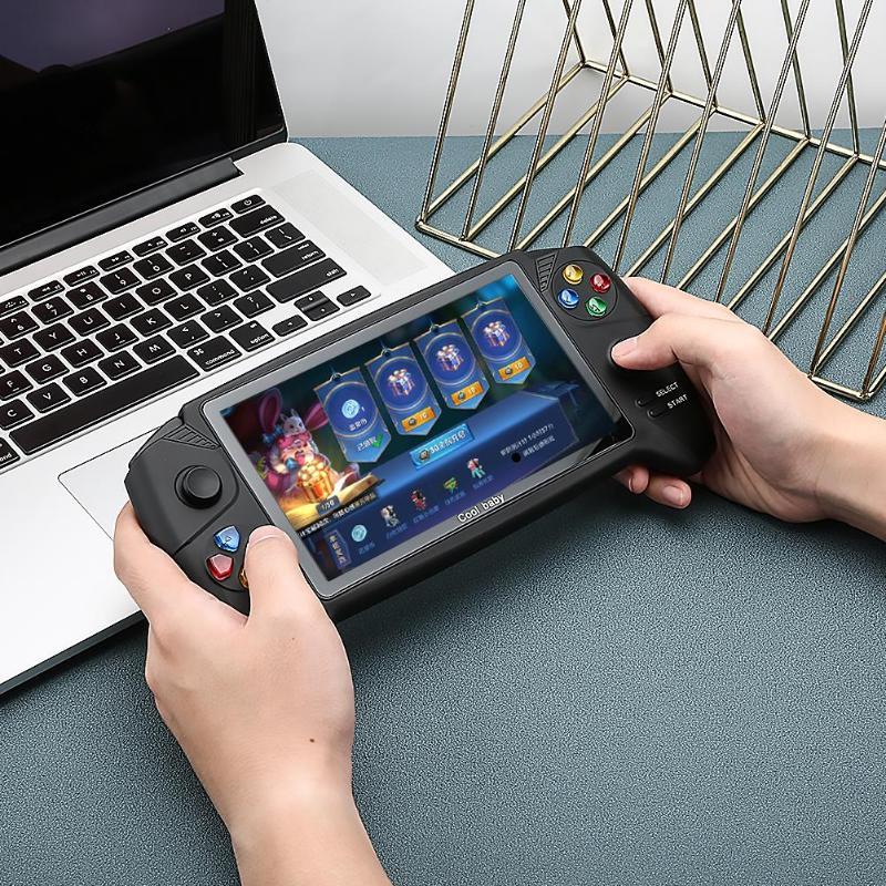 COOLBABY Классическая портативная игровая консоль, 7,0 дюйма, двойной джойстик для PSP GBA NES FC