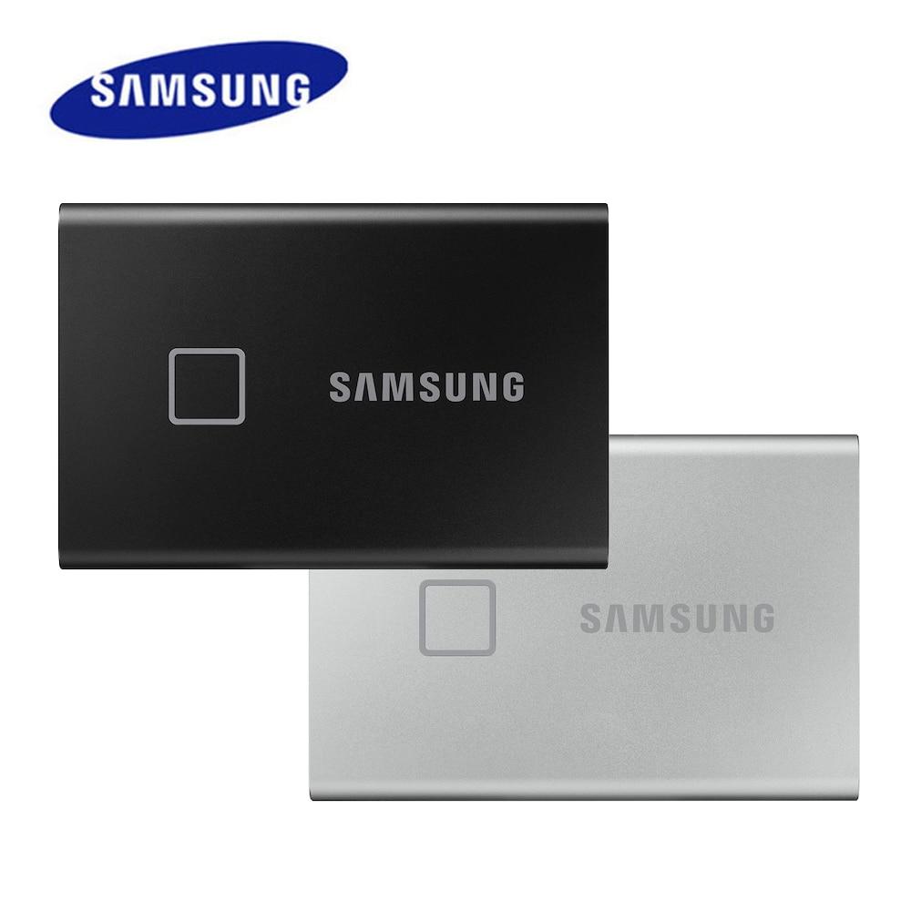 سامسونج المحمولة SSD T7 اللمس واجهة محرك الحالة الصلبة 2 تيرا بايت 1 تيرا بايت 500GB نوع-C USB3.2 Gen2 الخارجية PSSD للكمبيوتر و Loptop