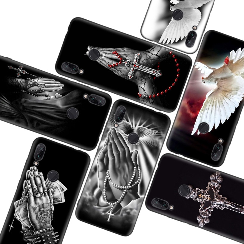 Latina tengo este rezar caso negro para Xiaomi Redmi nota T 8 S 8 8A 7 7A 6 6A K20 K30 Pro S2 Mi 10 CC 9 8 Lite teléfono Coque