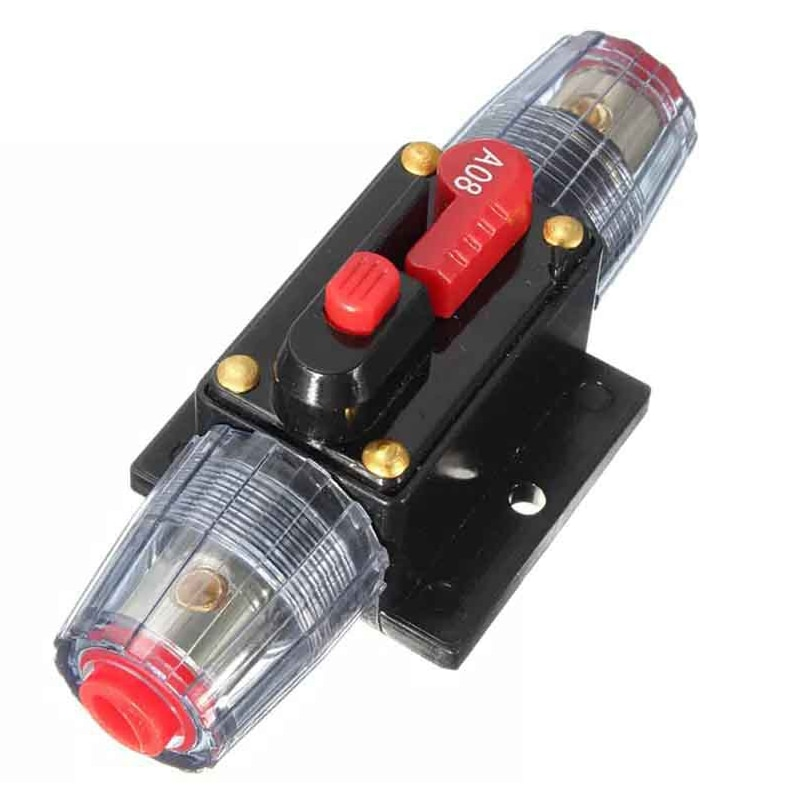150/100/50/30/20/40/60/80A 12V Car Truck Audio modification Stereo Amplifier Circuit Breaker Automatic Reset Fuse Holder Switch