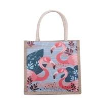 new cartoon anime printed canvas handbag for women ethnic style totes bag female fashion casual bag ladies cosmetics organizer