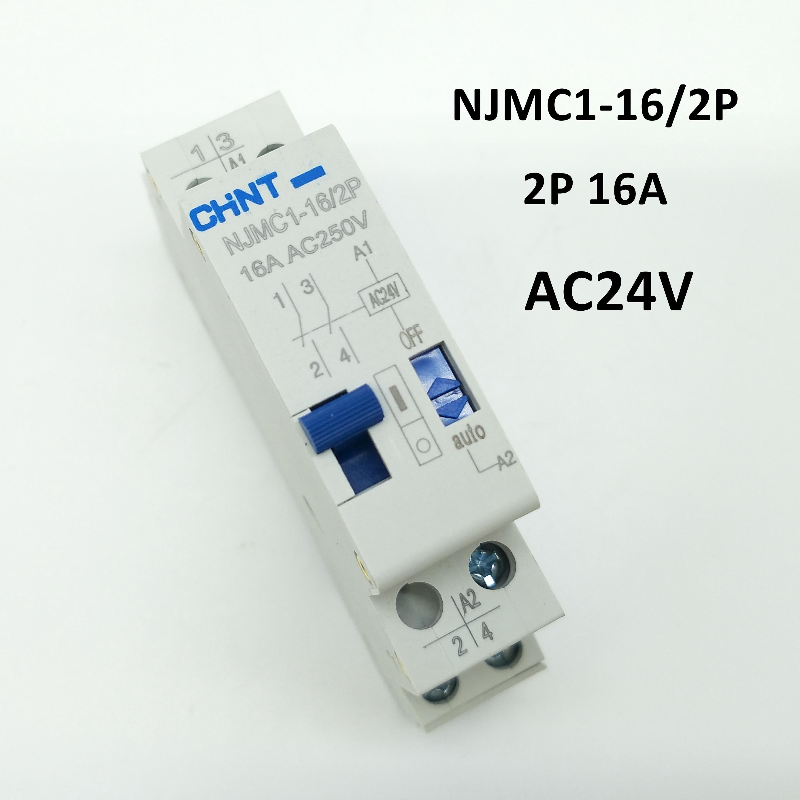 Relé de Pulso CHINT NJMC1-16/2 P 16A AC24V relé de Control