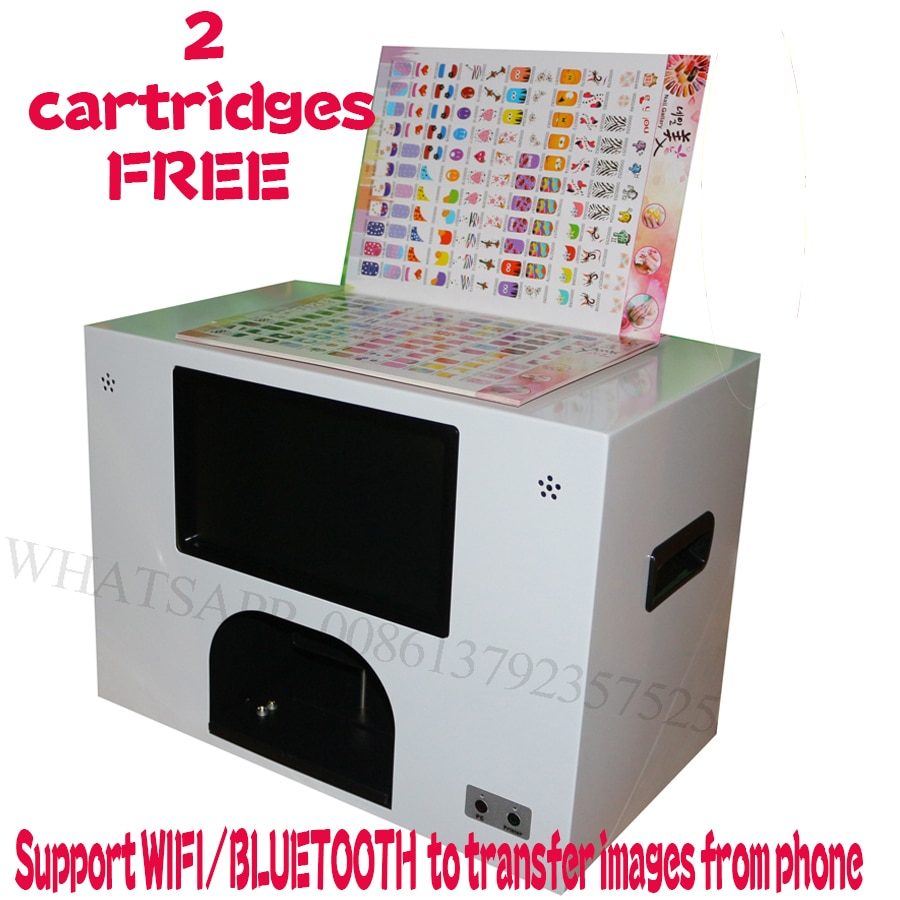 2 ink free 2020 touch screen nail and flower printing machine 5 nails painting wifi and bluetooth nail printer 3 years warranty