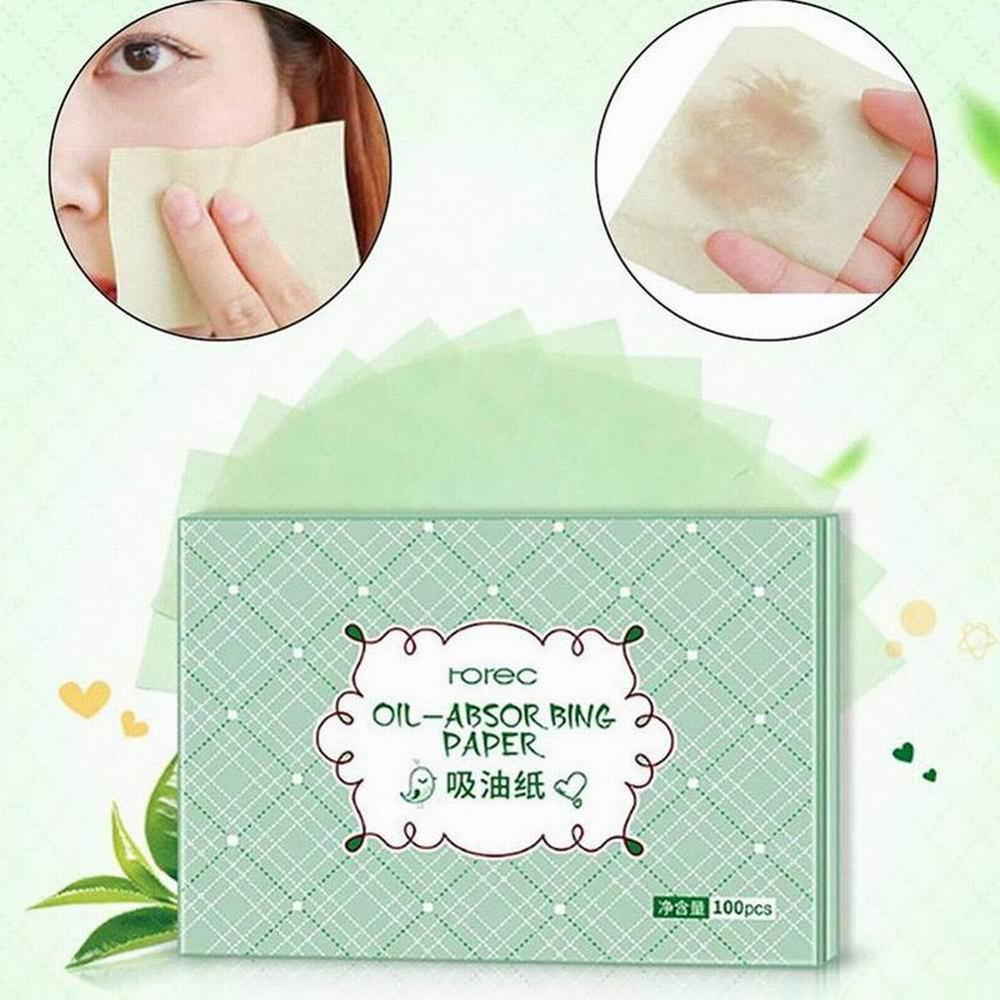100pcs Oil Absorbent Tissue Face Oil Absorbing Paper Facial Cleanser Paper Bags Cleaning Sheet Skin