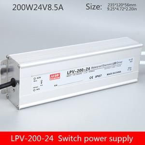 LPV-200W-24V waterproof transformer 220 turn DC12v24v voltage regulator type LED light word DC switching power supply