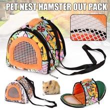 Le plus nouveau animal de compagnie coloré de bande dessinée transportant le sac à dos de voyage toile en peluche sac à dos pour Hamster cochon dinde hérisson écureuil meilleur