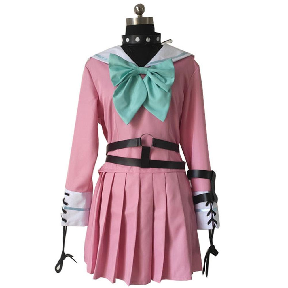 2019 Danganronpa V3 Killing Harmony Iruma Miu Cosplay Costume Props Anime Game Woman Girls party dress School Uniform outfit