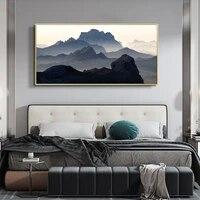 Peinture a lhuile de paysage  bateau de peche  chant de soiree  art toile peinture salon couloir bureau decoration murale de la maison