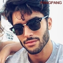 Classic Semi-Rimless Sunglasses Men's Women 2021 Square Polarized Sun glasses Men Oculos De Sol Gafa