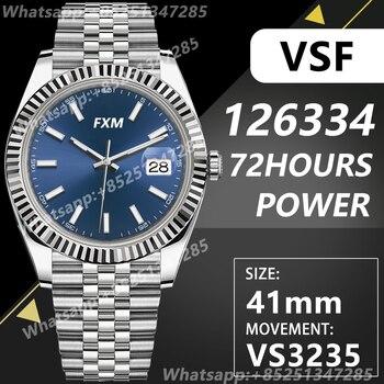 Men's Automatic Mechanical Top Luxury Brand Watch DateJust 41MM 126334 VSF VS3235 904L AAA Replica 1:1 Super Clone VS Waterproof