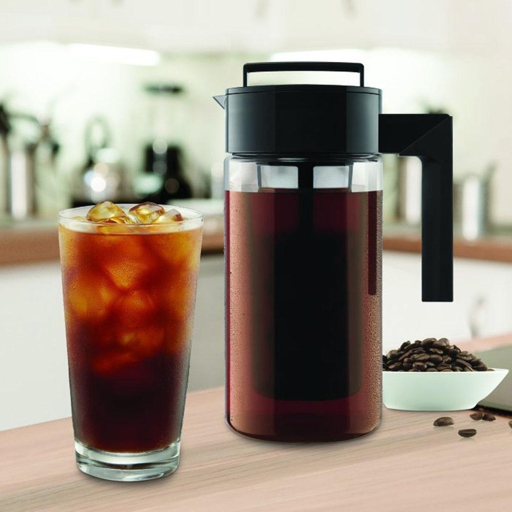 Cafetera percolador de 900ML, cafetera fría, con sello hermético de silicona, herramienta de cocina, tetera # YL10