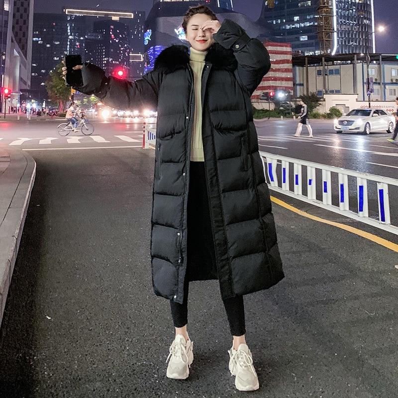 Chaqueta de Invierno para mujer 2020 Parka abajo de algodón abrigo largo caliente chaquetas globo para mujer Manteau Femme Hiver MD818 dj3365