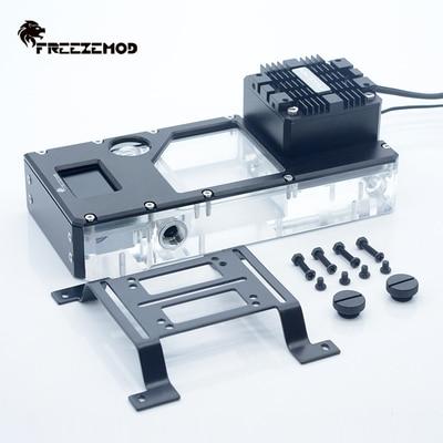 FreezeMOD AIO صندوق مضخة الطرد المركزي + شاشة الكريستال السائل الرقمي ، ميزان الحرارة/معدل التدفق/RPM 3 في 1 ،