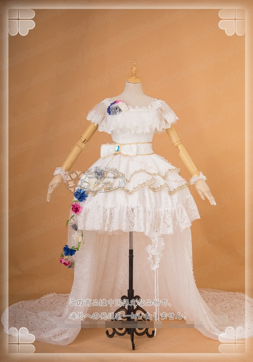 Anime! LoveLive! Luz Do Sol! Aqours Tsushima Yoshiko Despertar Da Flor Do Casamento Vestido de Noiva Traje Cosplay NOVO Frete Grátis