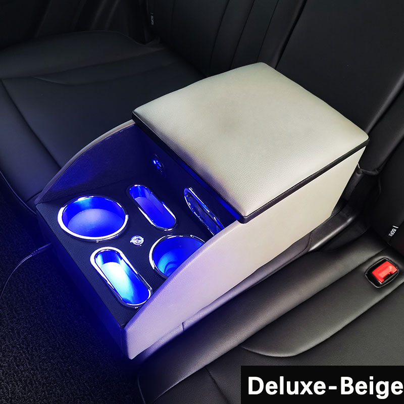 Car Armrest Rear Seat Storage Box LED General-Purpose Middle-Row Rear Portable Special Central Armrest Box Interior Modification