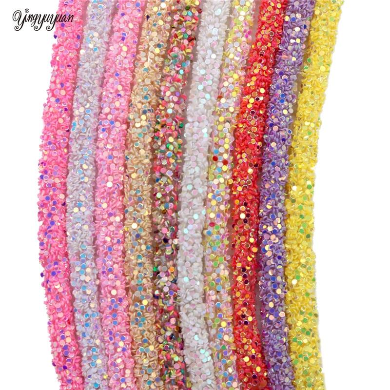 1 ярд 6 мм блестящая мягкая трубка со стразами шнур веревка для DIY одежды обувь шляпа ювелирный браслет украшение для вечеринки