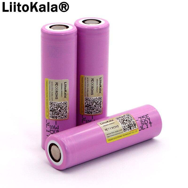 Original INR18650-35E 3,7 V 3500mAh Max 13A de potencia de descarga de la batería para las baterías de la linterna