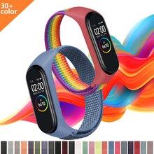 Per Xiaomi MI Band 5 6 4 3 cinturino in Nylon di ricambio cinturino sportivo bracciale universale Fitness Health Tracker accessori per orologi
