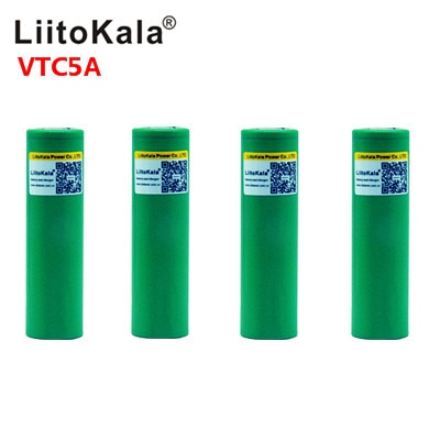 Liitokala Max 40A Pulse 60A Original 3.6V battery 18650 rechargeable VTC5A 2600mAh High Drain 40A Battery