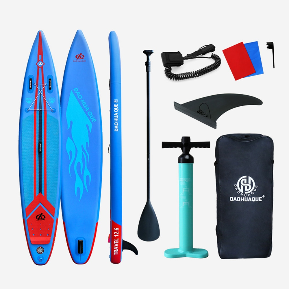 Inflatable Surfing Stand Up Paddle Board Sup-Board Surfboard Kayak Surf Set 380cm With Backpack Leash Pump Fins