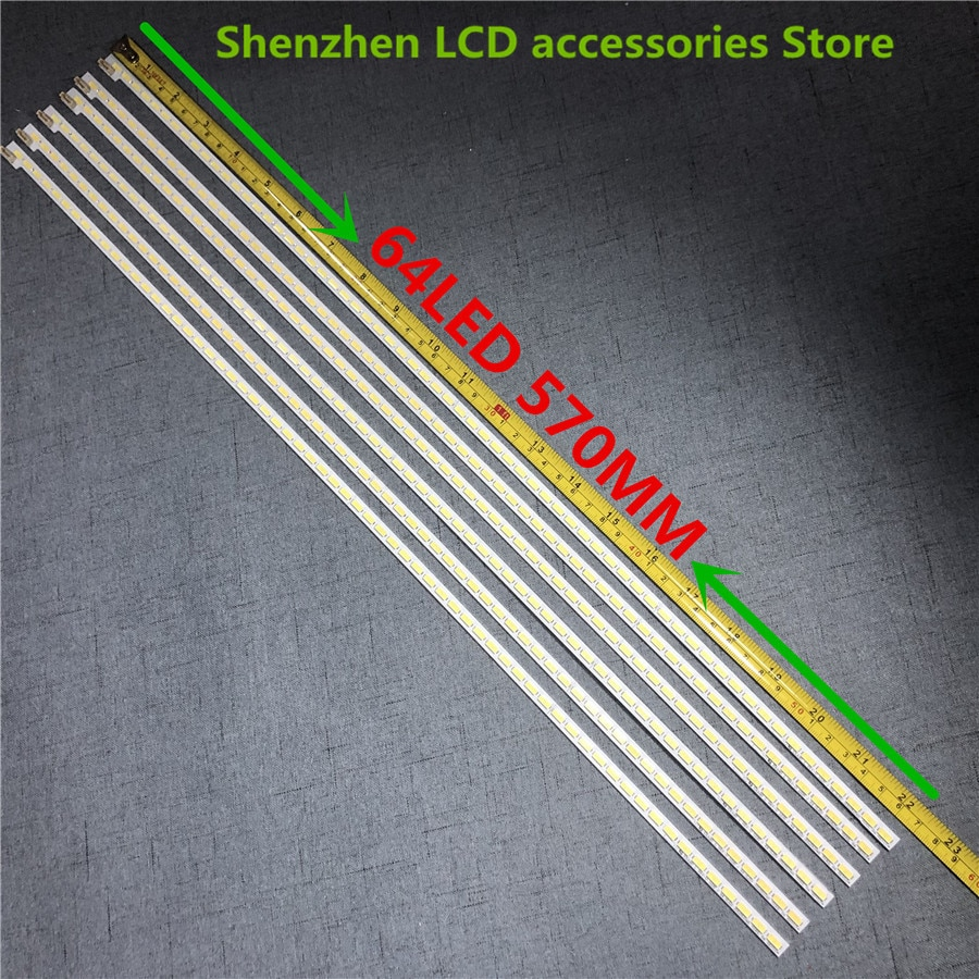 5 unids/lote tira de LED LJ64-03495A 46EL300C 46HL150C trineo 2012SGS46 para Samsung LTA460HN05 64LEDS 570MM 100% nuevo