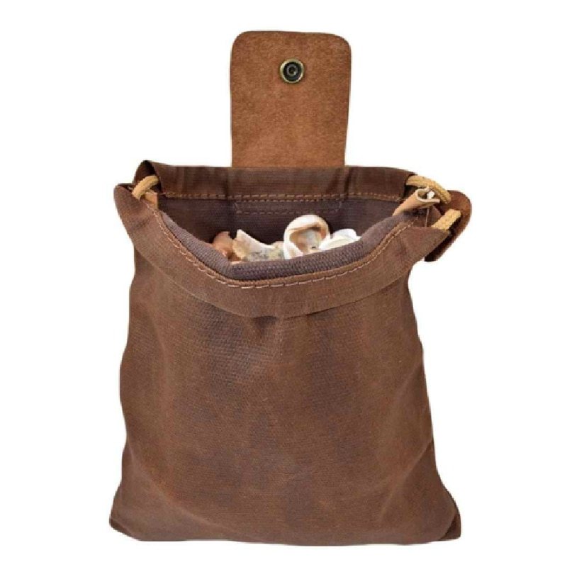 جديد قماش Bushcraft حقيبة مع أغطية جلد و مشبك طوي أداة عالية التحمل الحقيبة مع الرباط للخارجية التخييم VA88