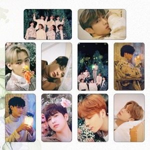 10Pcs/Set GOT7 New Ablum Photocard Stikcy Cards Student Crystal Card Sticker For Fans Collection Gift