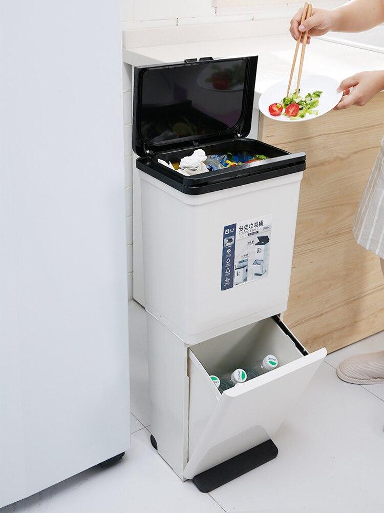 Suporte do Bolsa de Lixo do Banheiro Lata de Lixo Bolsa de Lixo de Triagem de Resíduos Cubo de Basura Reciclagem Reciclar Banheiro Bin Ba60
