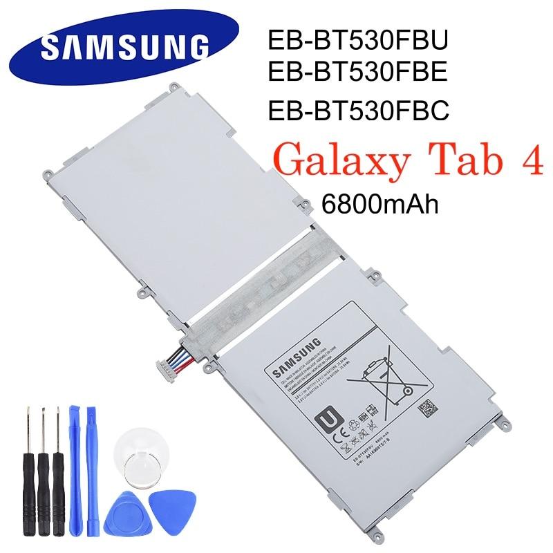 Samsung Original Tablet Battery EB-BT530FBC EB-BT530FBU 6800mAh For Galaxy Tab 4 SM-T530 T533 T535 T531 T535 T537 EB-BT530FBE