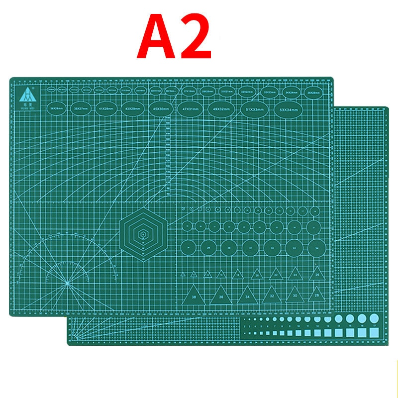 A2a3a4 tapete de corte de pvc almofada placa de corte retalhos ferramenta de costura diy artesanato de couro kit de ferramentas de trabalho dupla face almofada placa de base