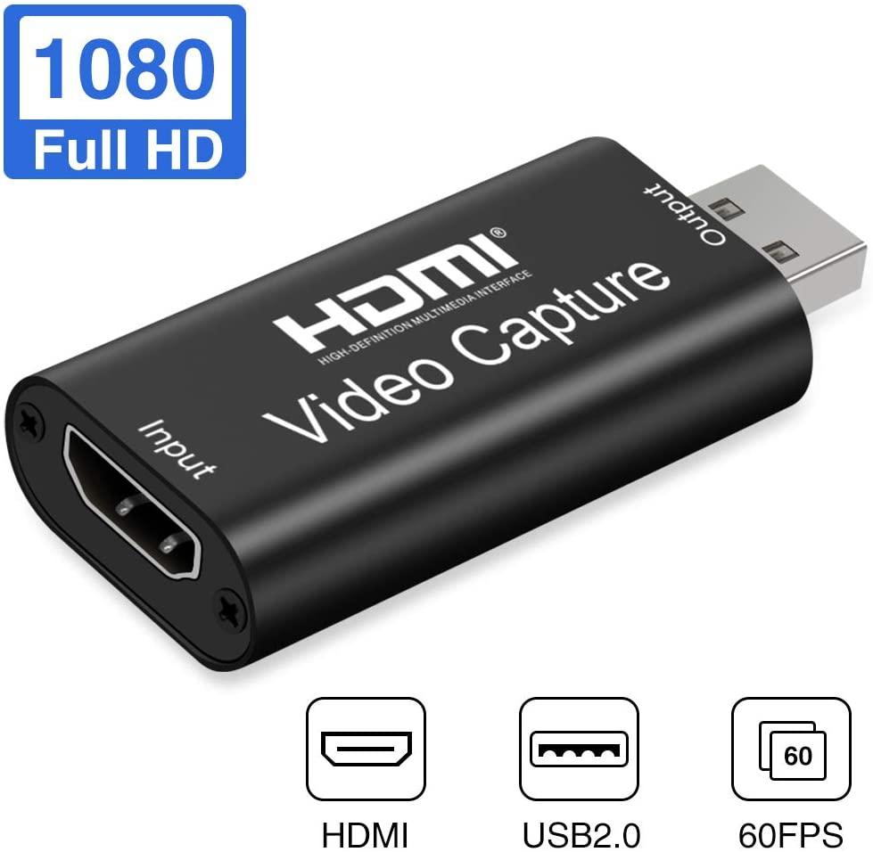 HDMI a USB 2,0 Tarjeta de captura de vídeo 1080P HD grabador de juegos/Video Streaming en vivo para PS3 4 TVBOX iPhone Samsung