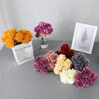 Bouquets de fleurs de chrysantheme artificielles en soie  6 pieces lot  boules de mariee  fournitures decoratives pour fete de mariage  couronne faite a la main  ornement pour la maison