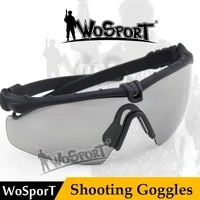 wosport army hot mens glasses military sports tactical army sports glasses ballistic protection goggles with helmet for wargame