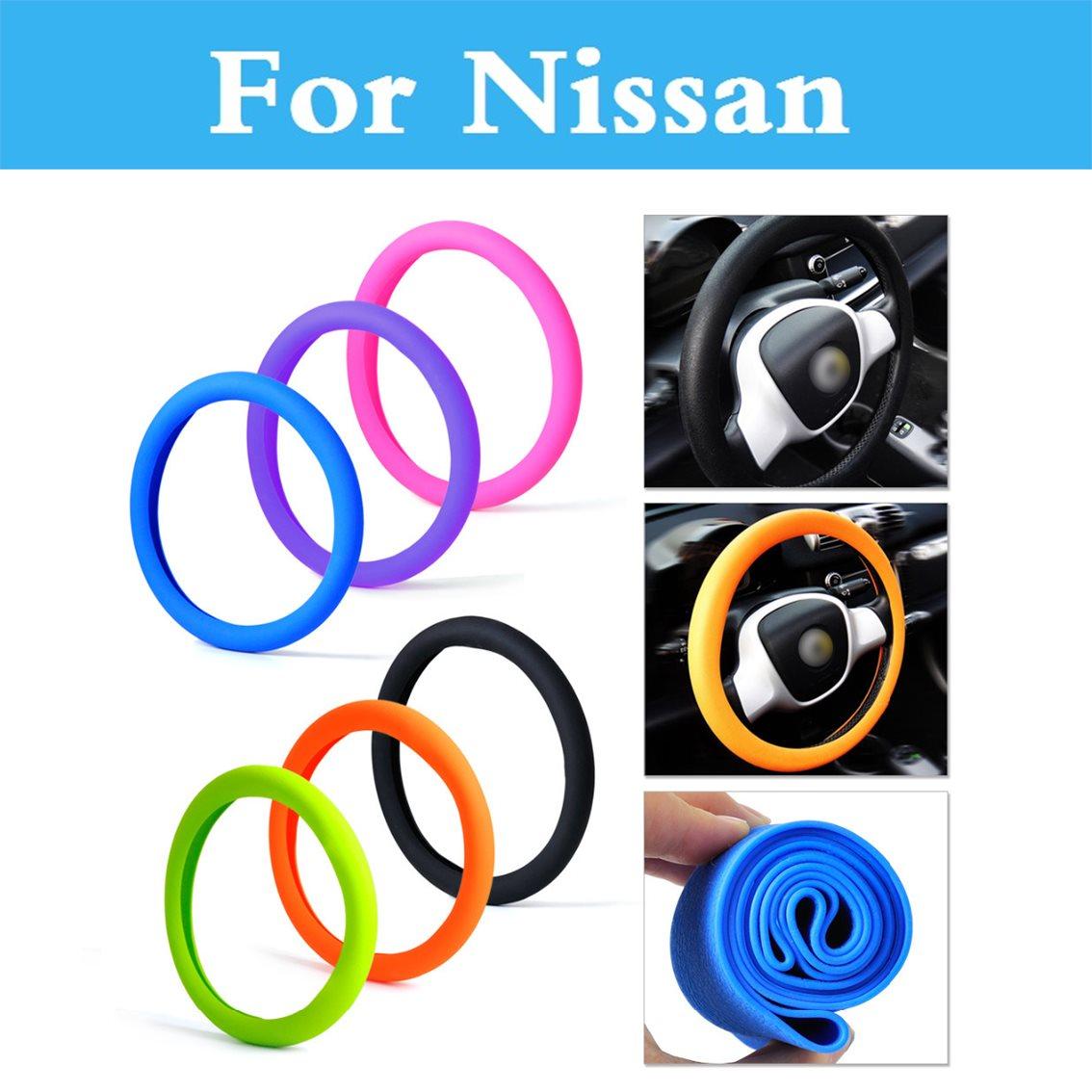Silicone Steering Wheel Cover Shell Skidproof Odorless For Nissan Altima Armada Avenir Juke 350Z Nismo 370Z AD Almera Classic