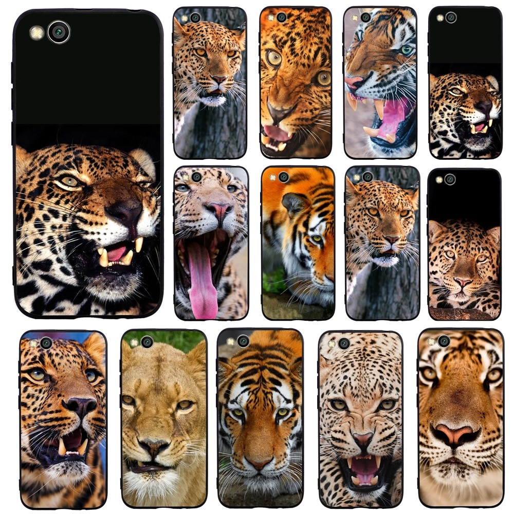Capa tpu macia de tigre para xiaomi, proteção para smartphones redmi note 8, 4x, 4a, 5a, 6a, 7a, 5 plus, go, k20 note 5 6 7 pro 5a prime