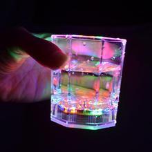 Gobelets transparents en plastique   Verre à vin, Bar Club Scotch octogonal coloré gobelets lumineux