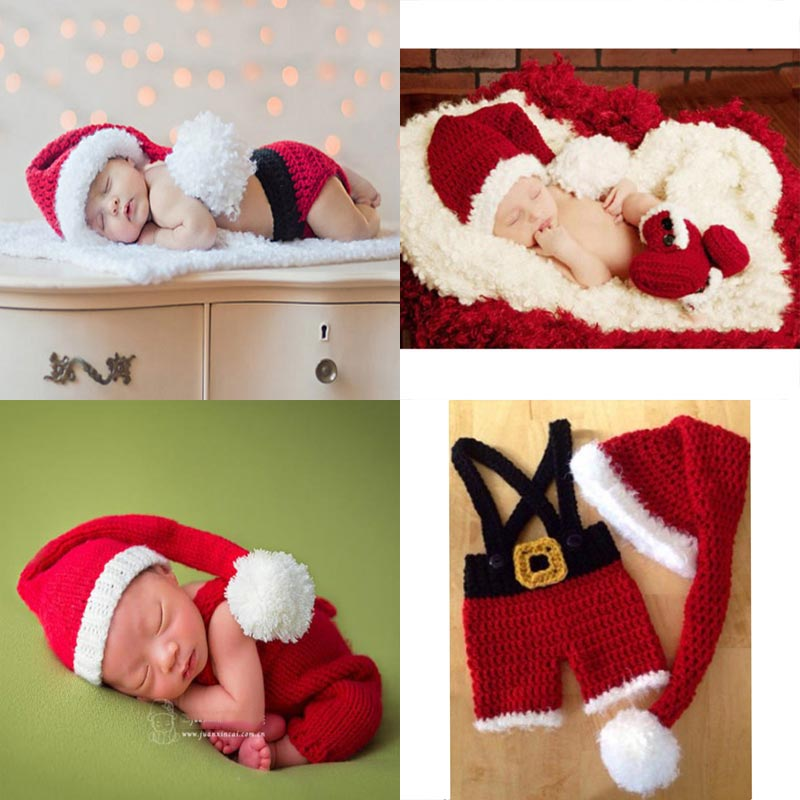 Новорожденных Фотография Опоры crothet детская одежда на Рождество аксессуары одежда для мальчика одежда для мальчиков Одежда для маленьких д...