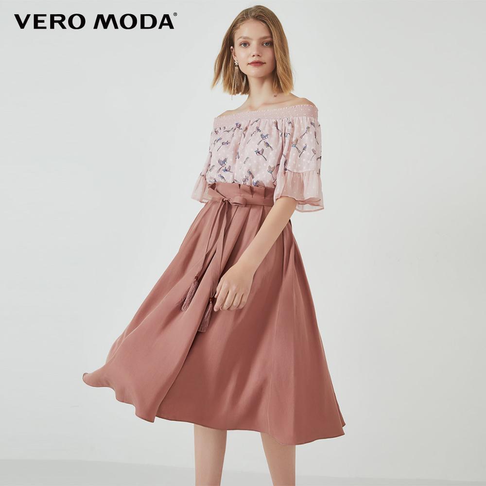 Vero Moda falda de encaje plisado OL para Mujer   319316507