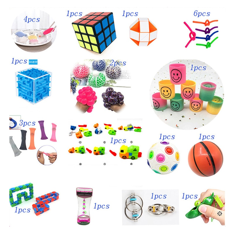 Brain Game Toy Combination 26 Pieces Extrusive-Solving Fidget Kids  Hot Selling Various Styles Toy Set Wholesale