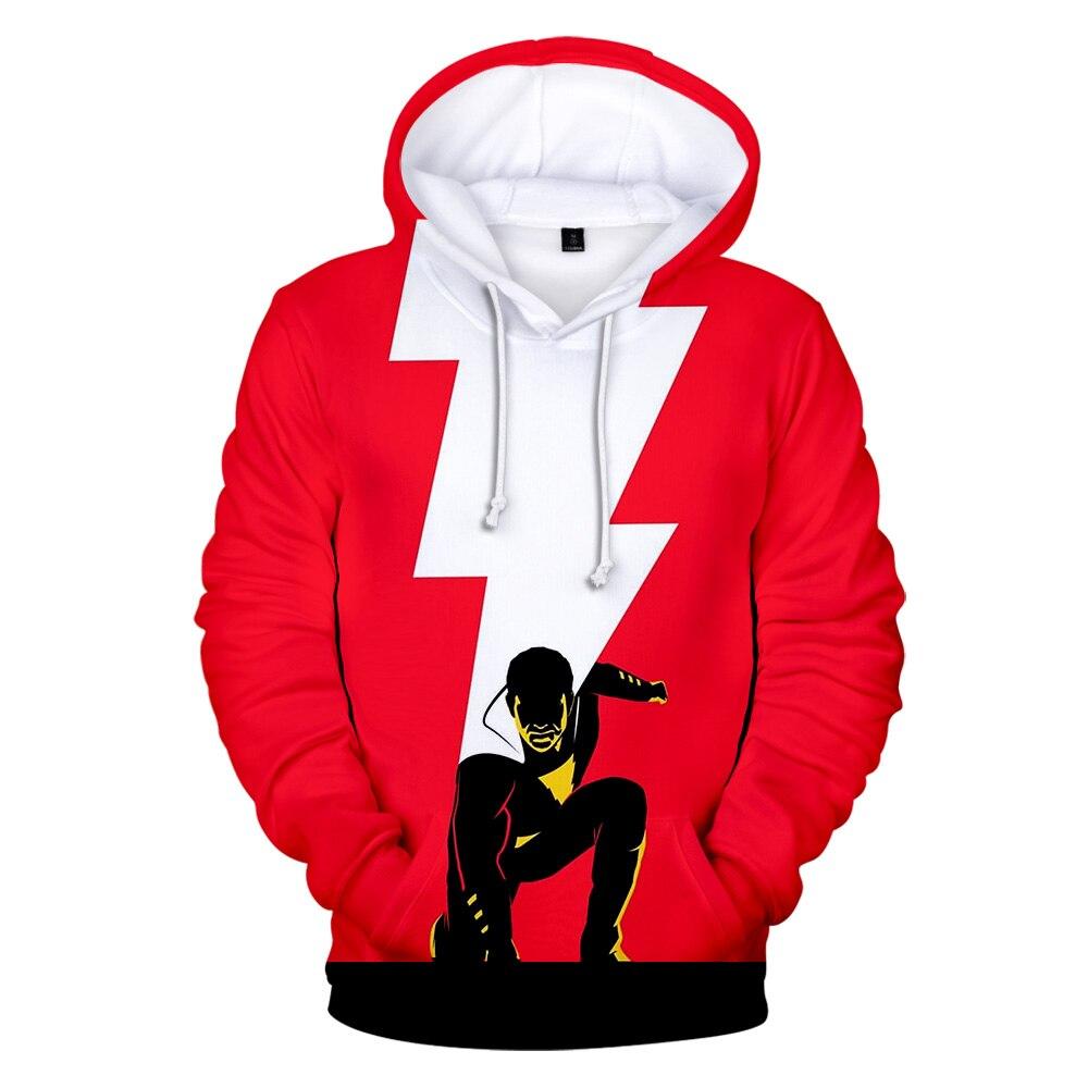 Moda película 3D Shazam sudaderas hombres/mujeres sudaderas moda suave invierno/primavera Hoodie Kpop Hip Hop manga larga Pullovers abrigos