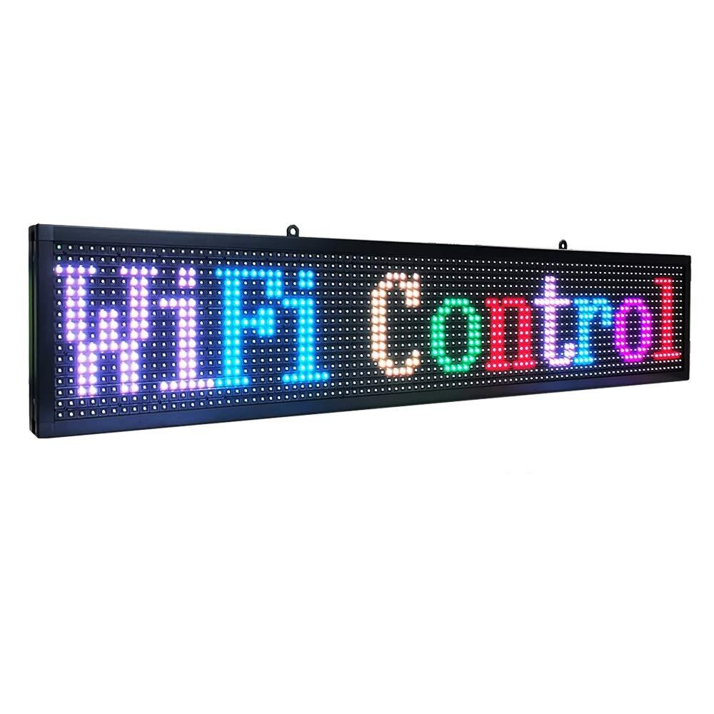 7-цветный комнатный светодиодный индикатор P10, программируемый Wi-Fi индикатор непрерывной информации