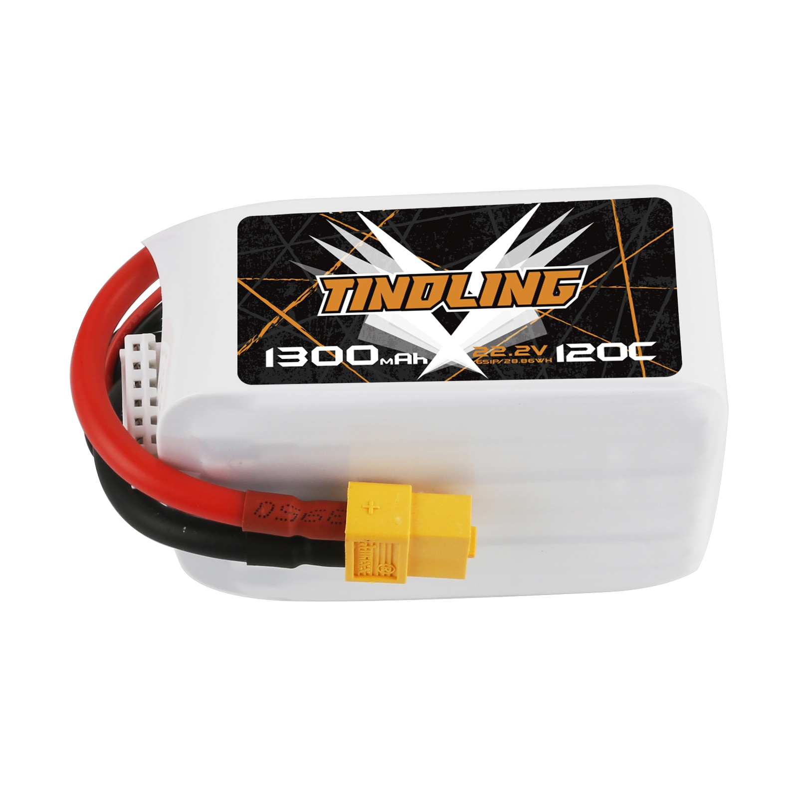 2PCS 1300mAh 120C 22.2V Lipo Battery  For RC Aircraft Quadrotor Drone Airplane 6S Batteries for Battery XT60 plug For RC Drone enlarge