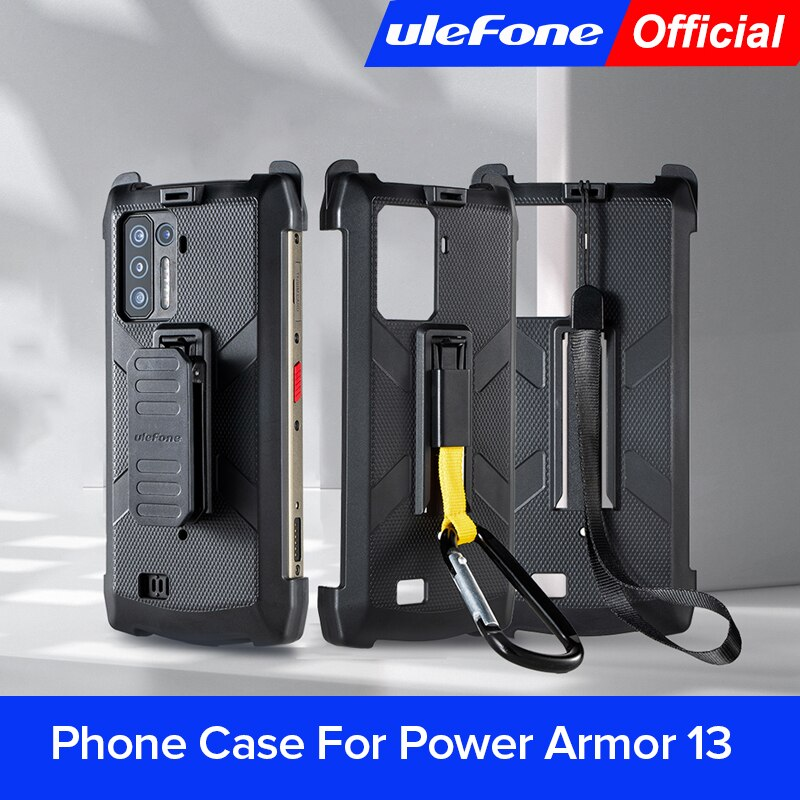جراب هاتف Ulefone لقوة درع 13 الأصلي مع مشبك حزام وحلقة تسلق