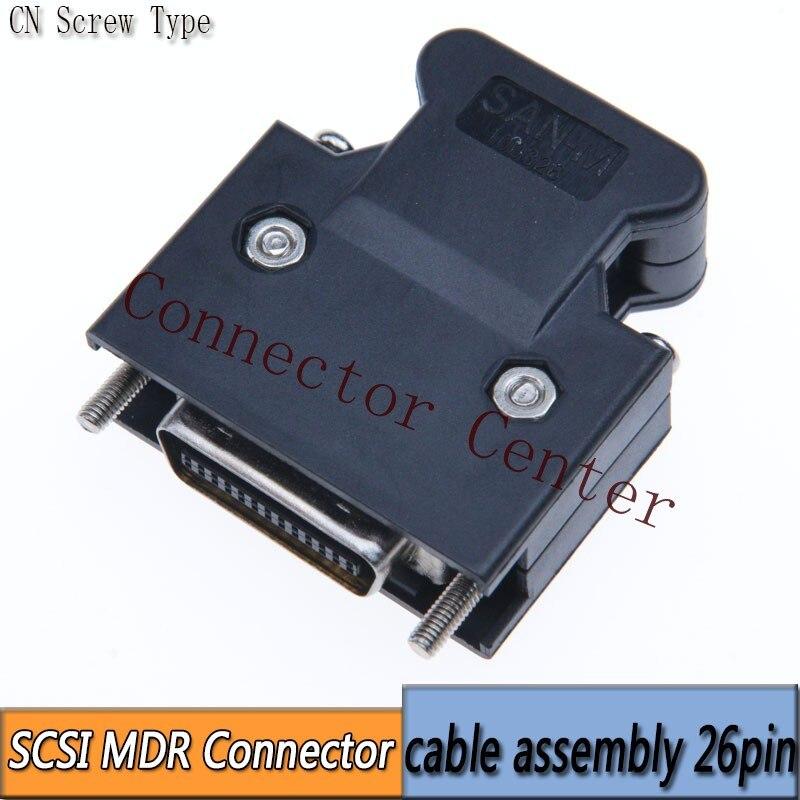 MDR Kabel Connector mannelijke 26-Pin Compatibel Met 3M SCSI CN Connector 10326 10126