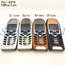 10 шт. для Nokia 6310 чехол Корпус 6310i Батарейная дверь средняя рамка Передняя рамка Замена Часть без телефона клавиатура + логотип